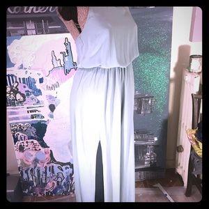 Show me your MuMu Silver sage crisp Gown
